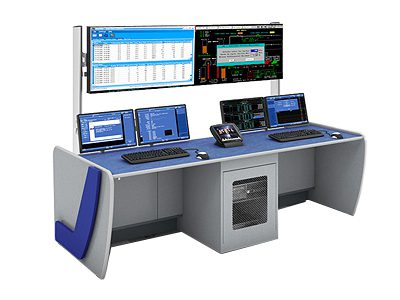 Temper Stretch Cut to Length Line control console